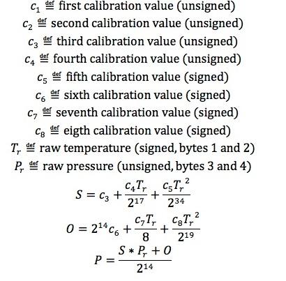 圧力センサー変換式