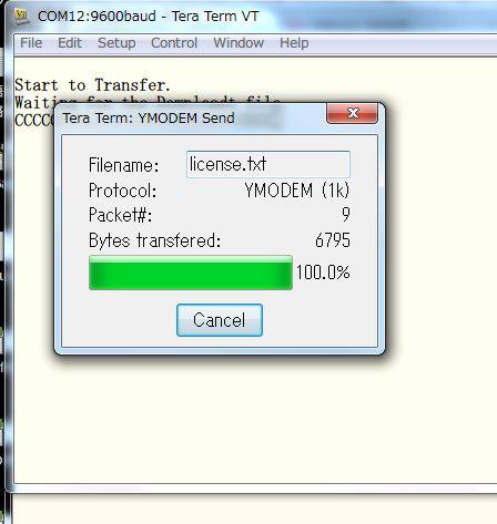 TeraTermでYmodemプロトコルによるファイル転送ソフトの作成