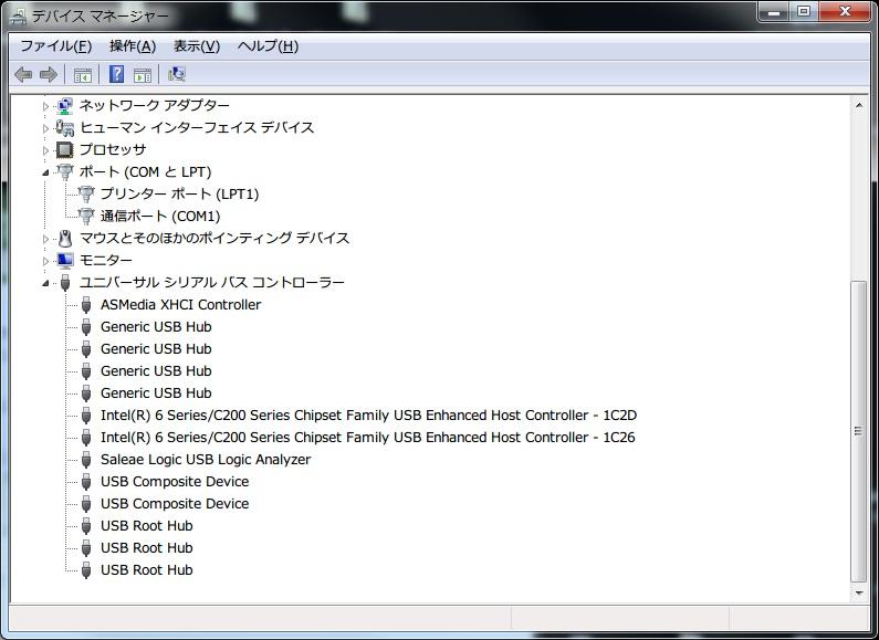 USBドライバのインストール