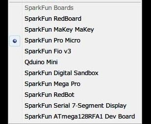 マイコンボード「Pro Micro」の設定