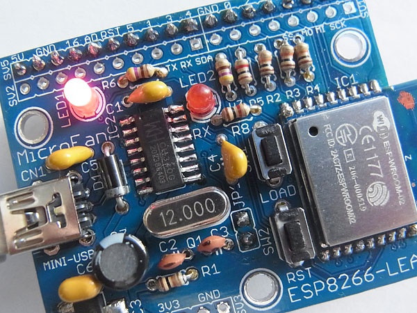 TRIAL-ESP8266-LEAFのハンダ付け