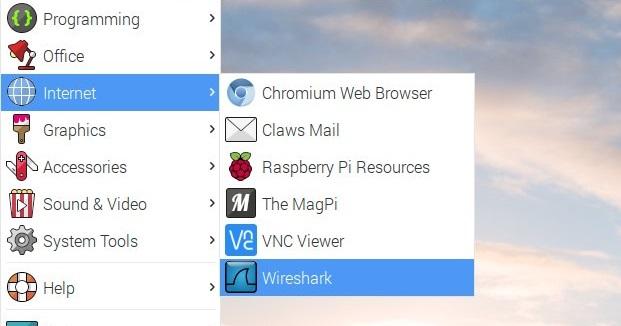 Wiresharkの起動