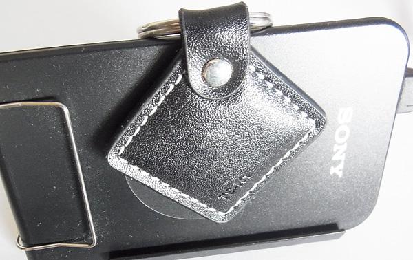 革製キーホルダ型ICタグ