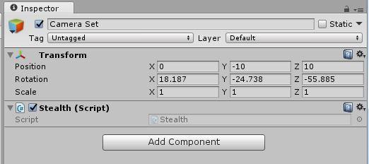 nspector領域のコンポーネント「Stealth(Script) 」