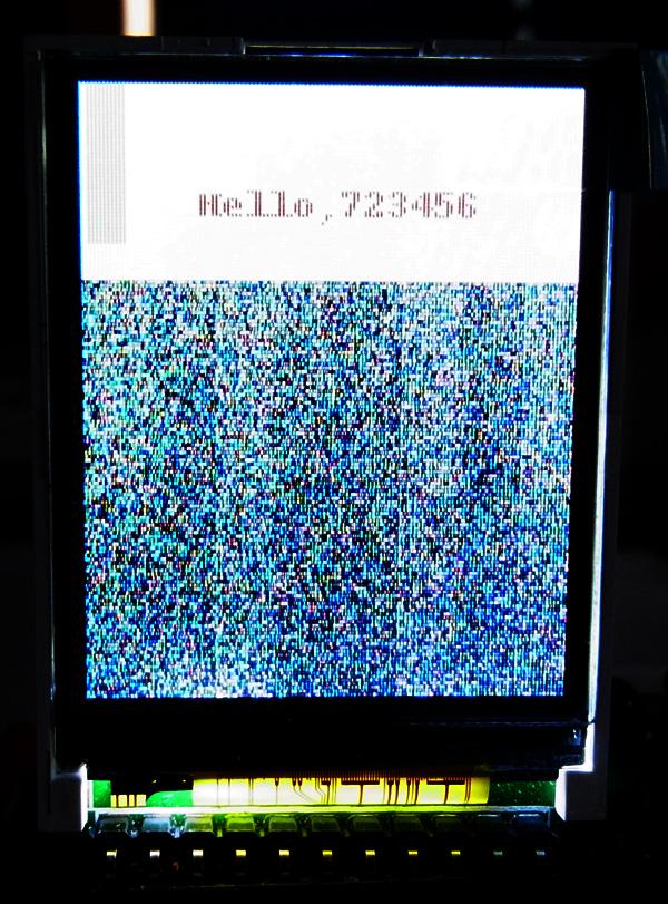 LCDプログラムの実行