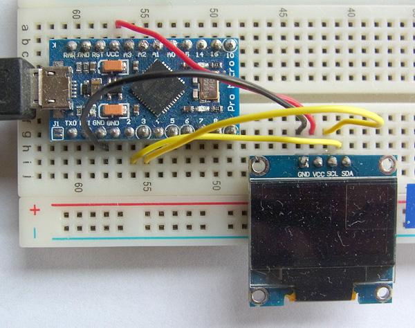 Pro MicroとOLEDディスプレイtとの接続