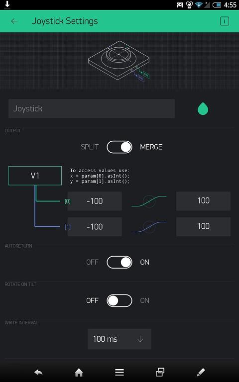 Blynkによるロボットカーのコントローラ