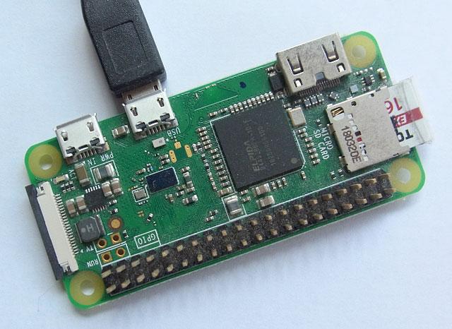 RapberryPi Zero Wとパソコンの接続