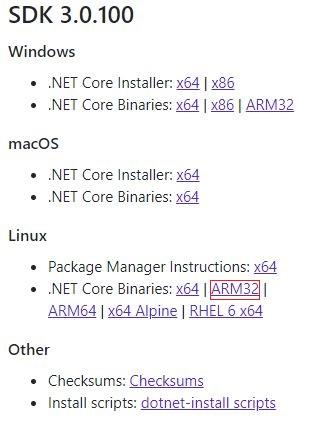 .NET Core3.0ダウンロード