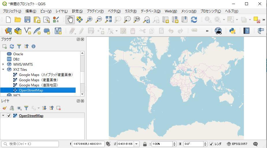 世界地図の表示